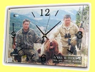 часы настенные  рыболов-охотник
